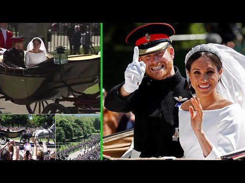 Meghan appears to drop F during carriage ride in Windsor.. Twitter goes into meltdown of bride