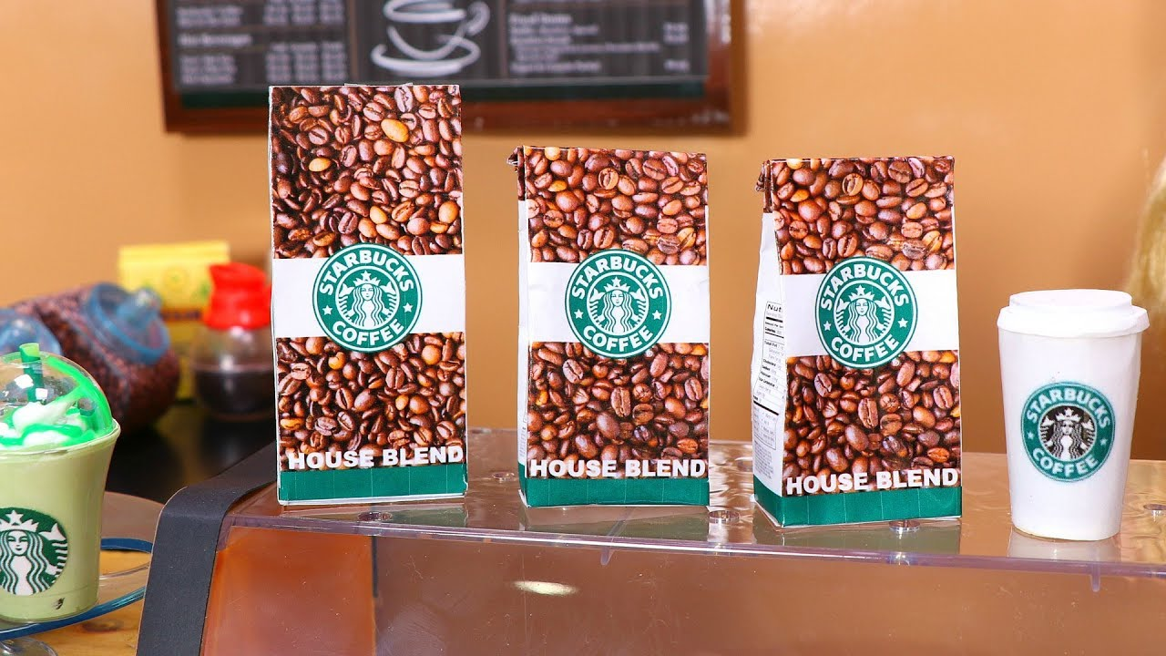 Diy American Girl Doll Starbucks Coffee Youtube