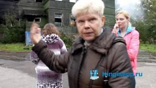 КРИКИ отчаяния, слезы и УЖАС в глазах - пожар на ул.Графова в Кингисеппе. KINGISEPP.RU