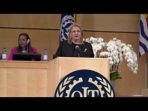 President Marie-Louise Coleiro Preca addresses the 106th International Labour Conference