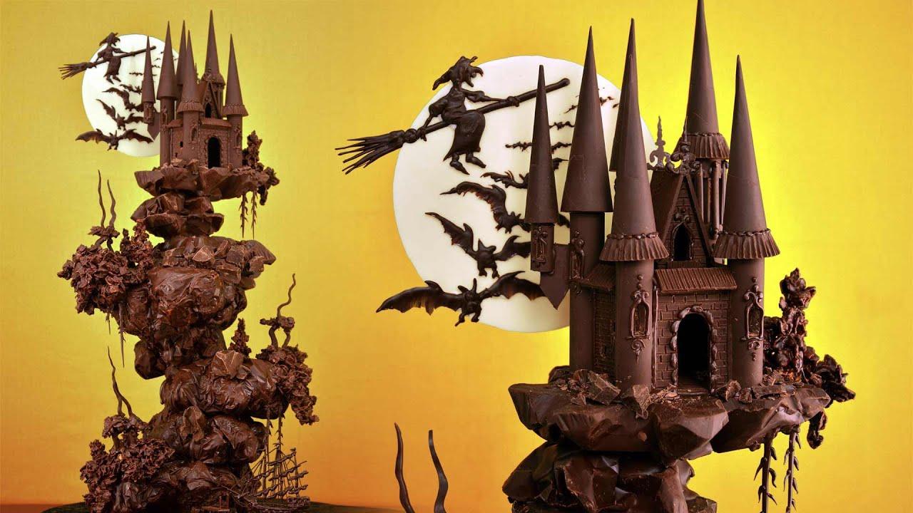 Spooky Chocolate Castle Cake Tutorial Sample Youtube