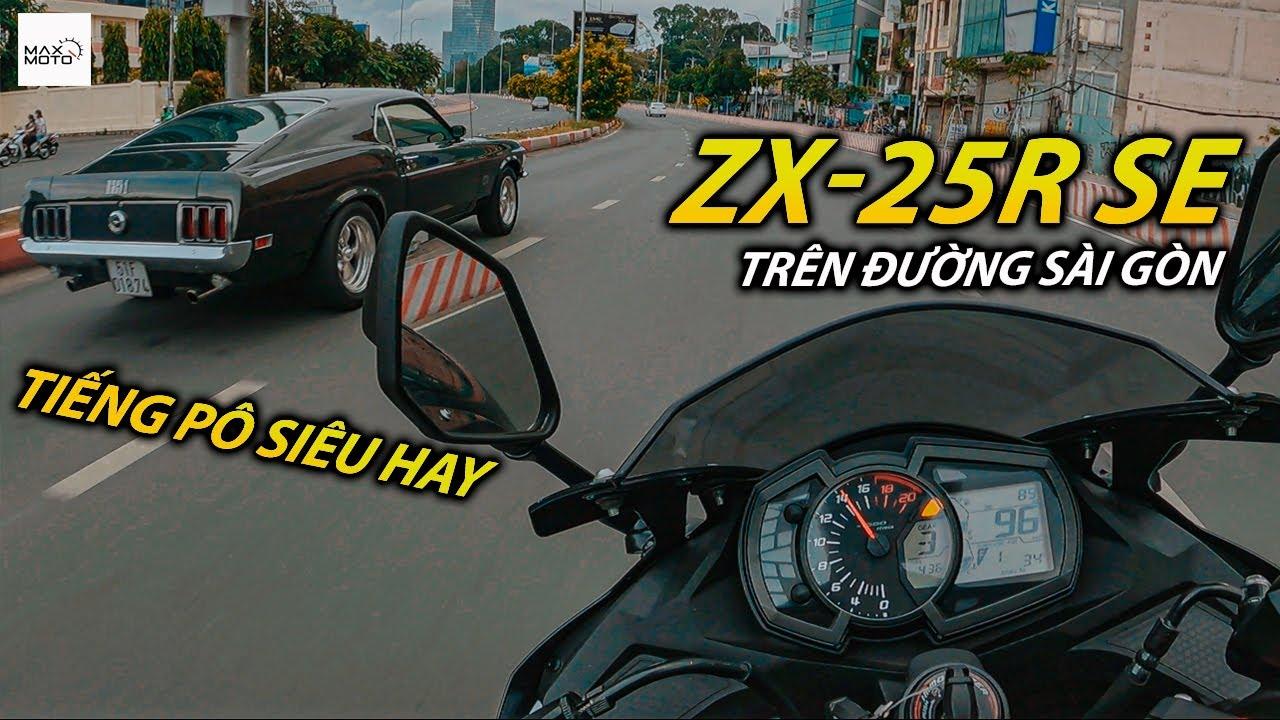 Trải nghiệm ZX-25R trên đường phố Sài Gòn gặp toàn idol và siêu xe | Kawasaki | Maxmoto