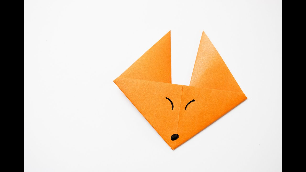 How to make a origami fox face youtube how to make a origami fox face jeuxipadfo Gallery