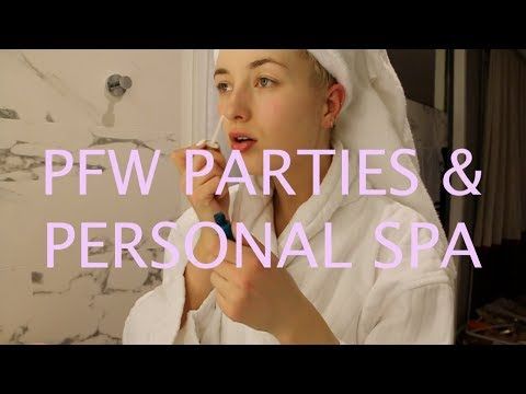Paris Fashion Week, days 1&2: SO, WE PARTIED AT LANVIN AND I HAVE A SPA IN MY ROOM??