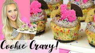 Cookie Crazy Cupcakes - Oreo, Cookie Dough, Circus Animal Cupcakes // Lindsay Ann Bakes