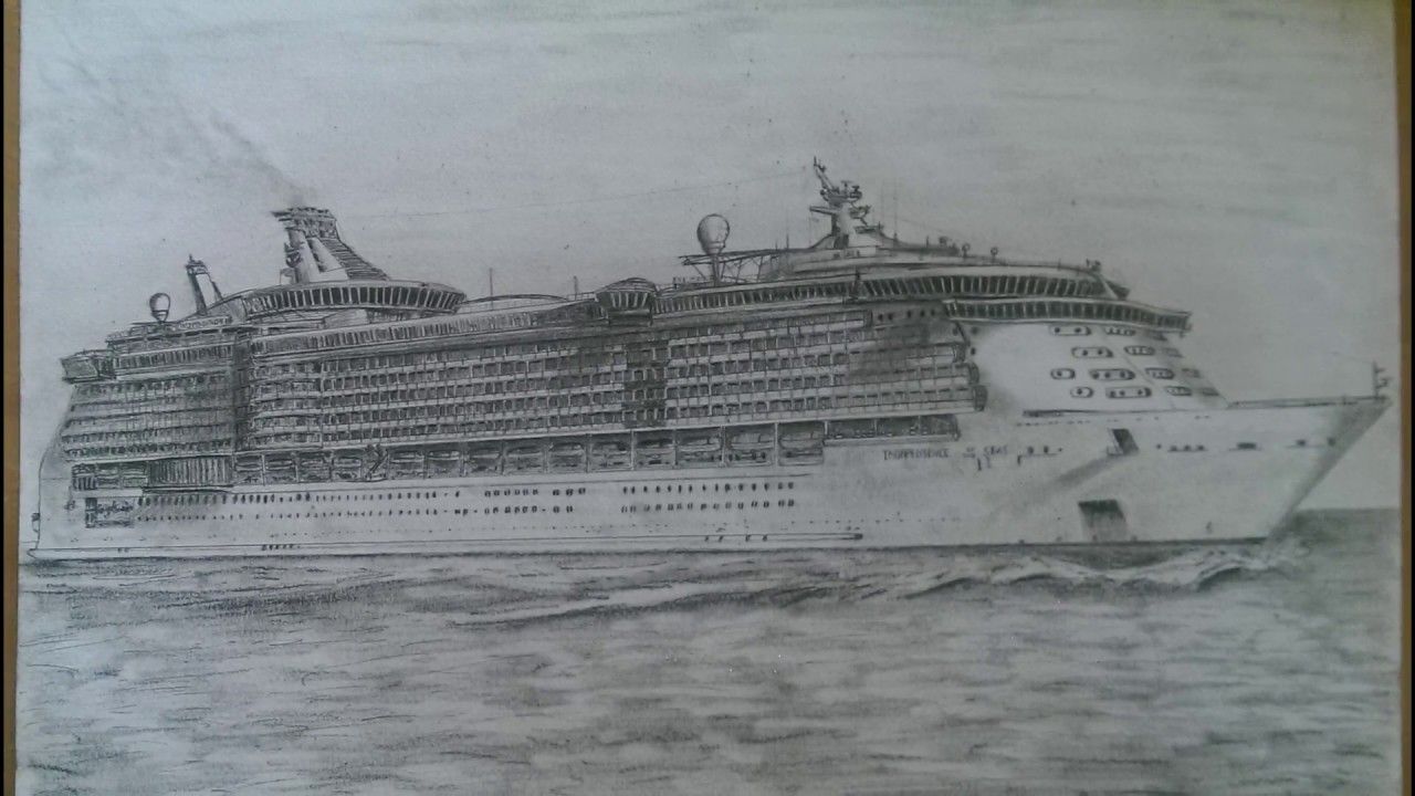 HOW TO DRAW INDEPENDENCE OF THE SEAS YouTube - Cruise ship drawings