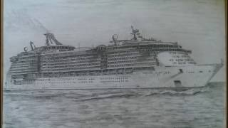 HOW TO DRAW INDEPENDENCE OF THE SEAS | 2016
