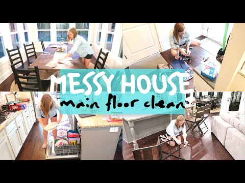 MESSY HOUSE MAIN FLOOR CLEAN | EXTREME CLEANING MOTIVATION | SAHM