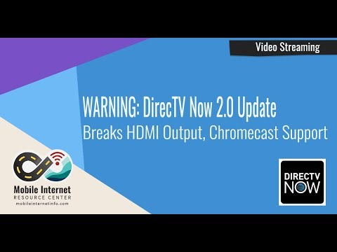 FIXED DirecTV Now 20 Update Breaks HDMI Output, Chromecast Support
