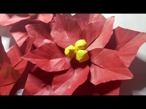 HOW TO MAKE DIY POINSETTIA FLOWER CHRISTMAS CRAFTS TUTORIAL