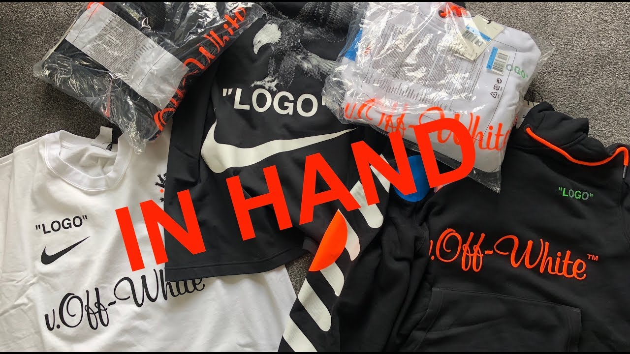 f8fc76a6 Nike x Off-White Mon Amour Collection Review In Hand Hoody T shirt White  Black by Virgil Abloh