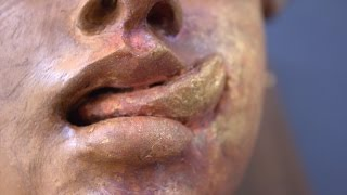 sculpting a female head in clay synesthesia sculpture visual art formtutorial and demo