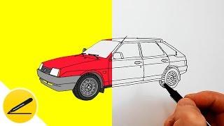 Автомобиль Лада ВАЗ-2109 ★ Как Нарисовать Машину ★ Рисуем Авто(Как рисовать машину. В этом видео я показываю как нарисовать автомобиль Лада ВАЗ-2109. Я рисую машину поэтапно..., 2016-09-14T17:01:31.000Z)