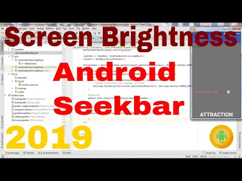 Android change screen brightness  Android studio 3 3 1 tutorial