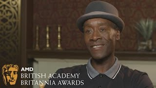 """He was a jerk"" - Don Cheadle's first impression of Ewan McGregor - 2016 Britannias"