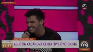 Agustin Casanova cantando bye bye en Mucho Gusto