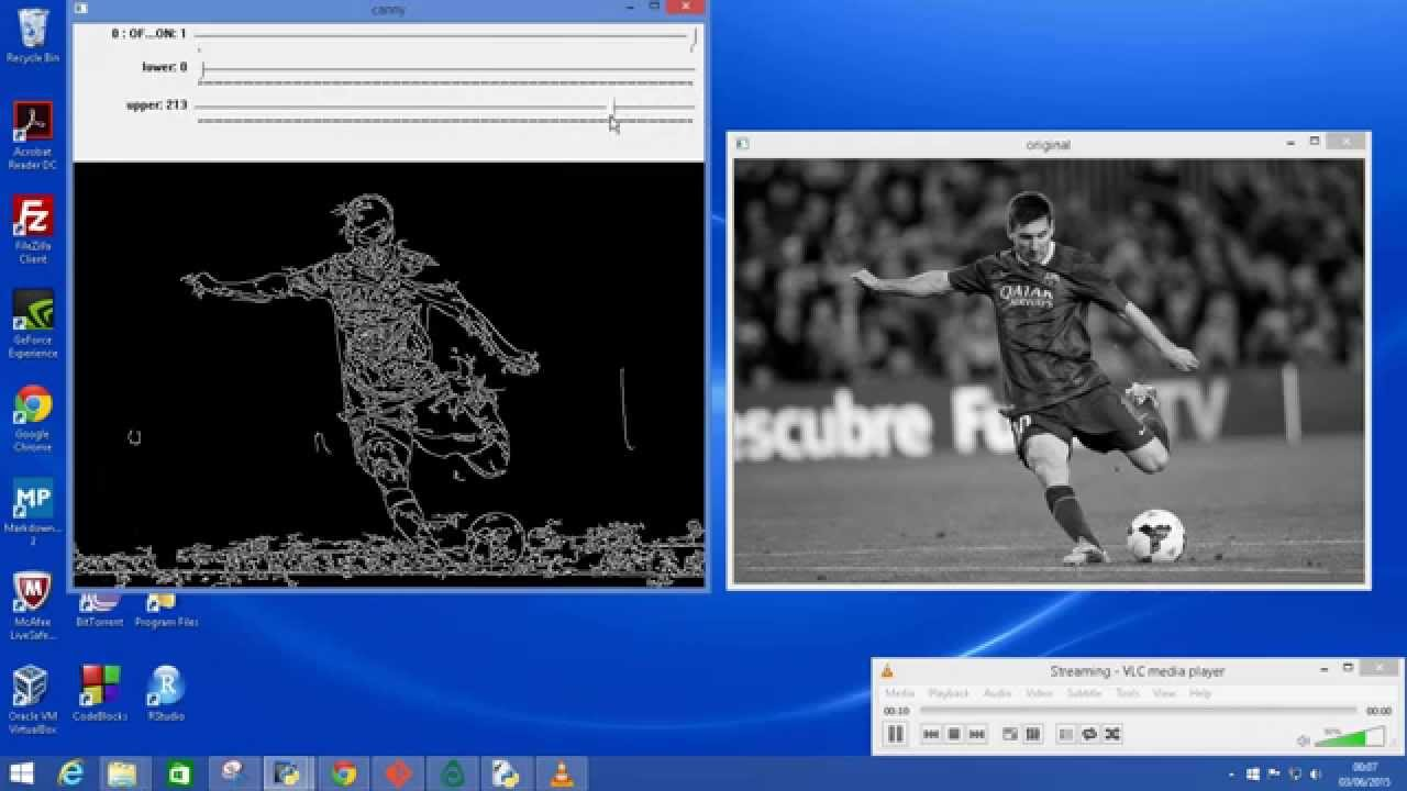 Canny Edge Detection App with OpenCV-Python