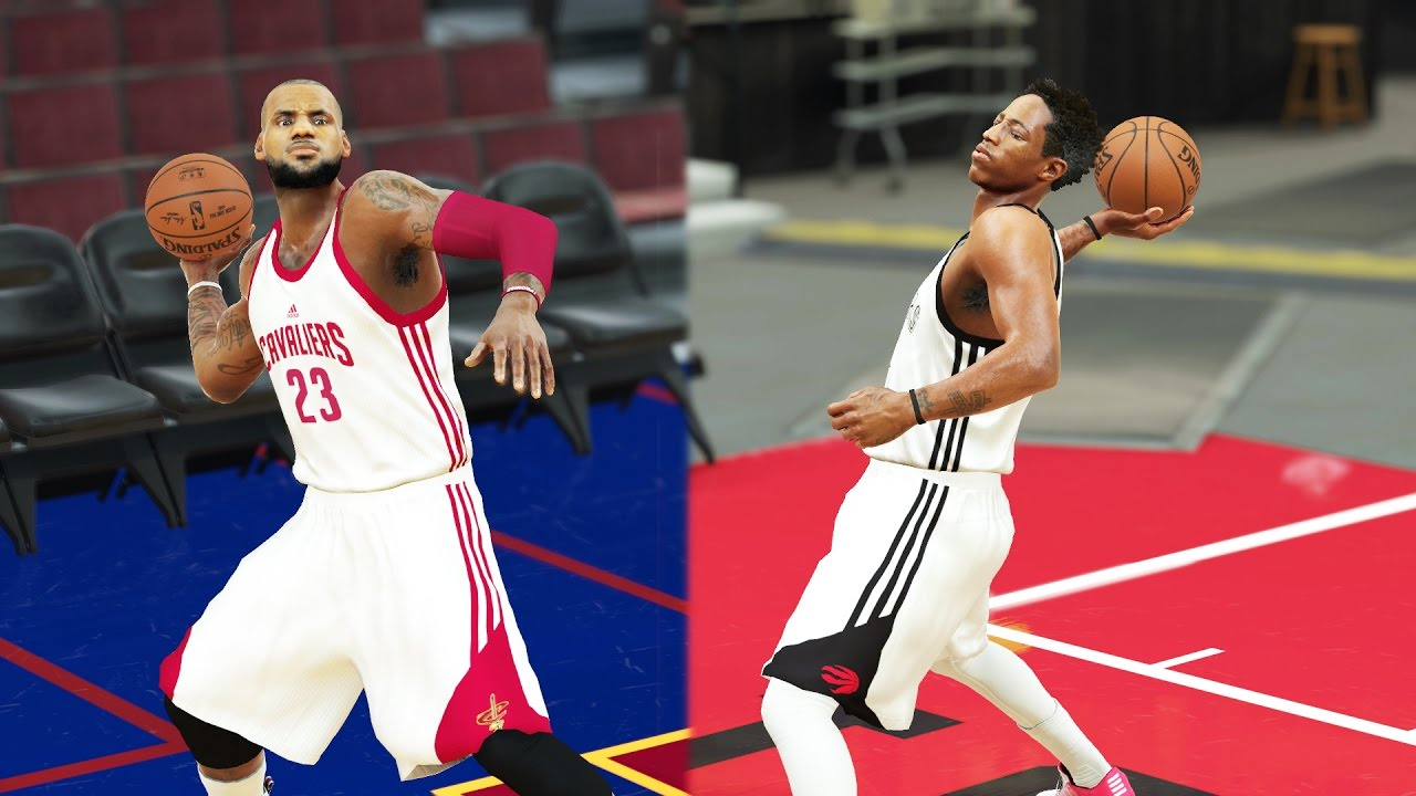 c7a73b145fbe Can LeBron James Make a Full Court Shot Before DeMar DeRozan - NBA 2K17  Challenge - YouTube