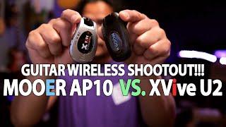 MOOER Air P10 vs XVIVE U2   Digital Wireless System Shootout!