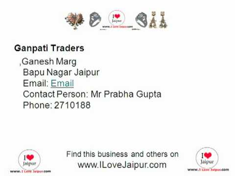 Ganpati Traders. Jaipur, Rajasthan, India - Jewellers