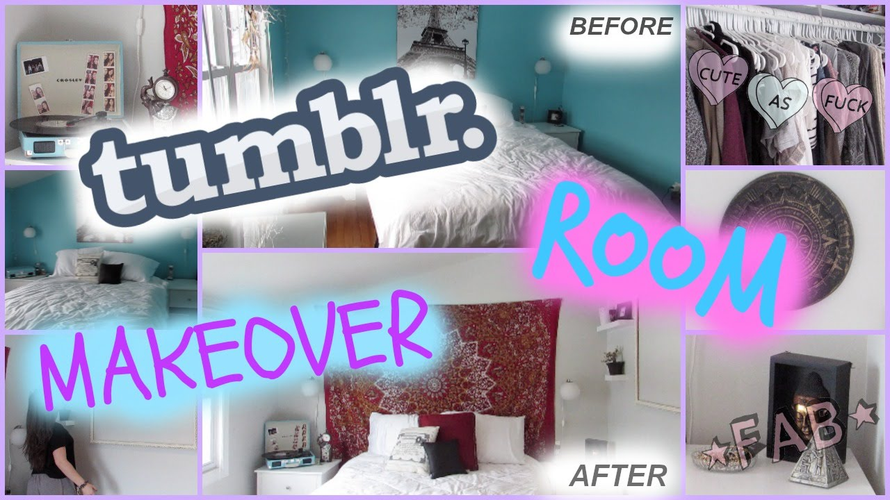 tumblr room makeover room transformation 2015 youtube