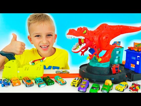Vlad And Nikita Play With Toy Cars | Hot Wheels City