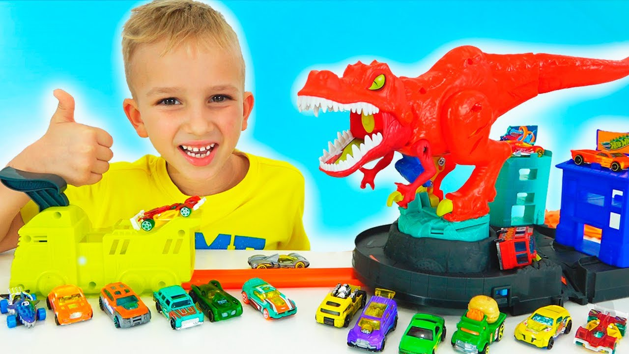 Vlad And Nikita Play With Toy Cars Hot Wheels City Youtube