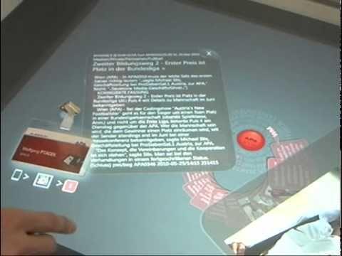 APA präsentiert Nachrichten-Anwendung für TouchTable Surfa