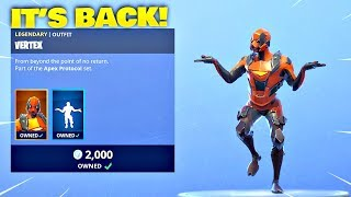 VERTEX SKIN IS BACK! Fortnite ITEM SHOP [March 11, 2019] | Fortnite Battle Royale