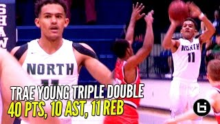 Trae Young Gets SAUCEY!! Nasty Triple Double in 3 Quarters!!