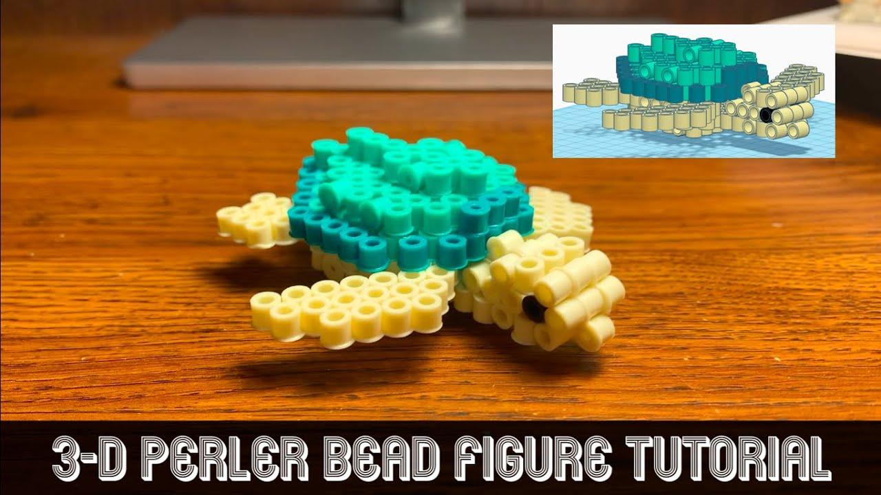 Perler Bead Designs Roblox Sea Turtle 3 D Perler Bead Model Tutorial Youtube