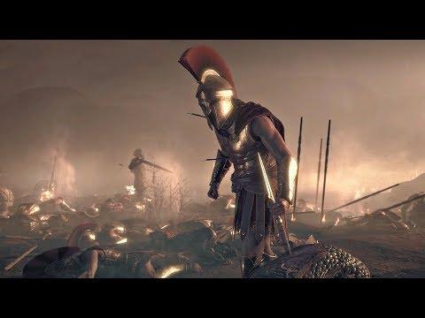 Assassin's Creed Odyssey - Death of Leonidas & 300 Spartans Cutscene (PS4 Pro)