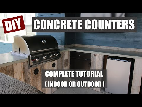How to Make Concrete Countertops for Your Outdoor Kitchen
