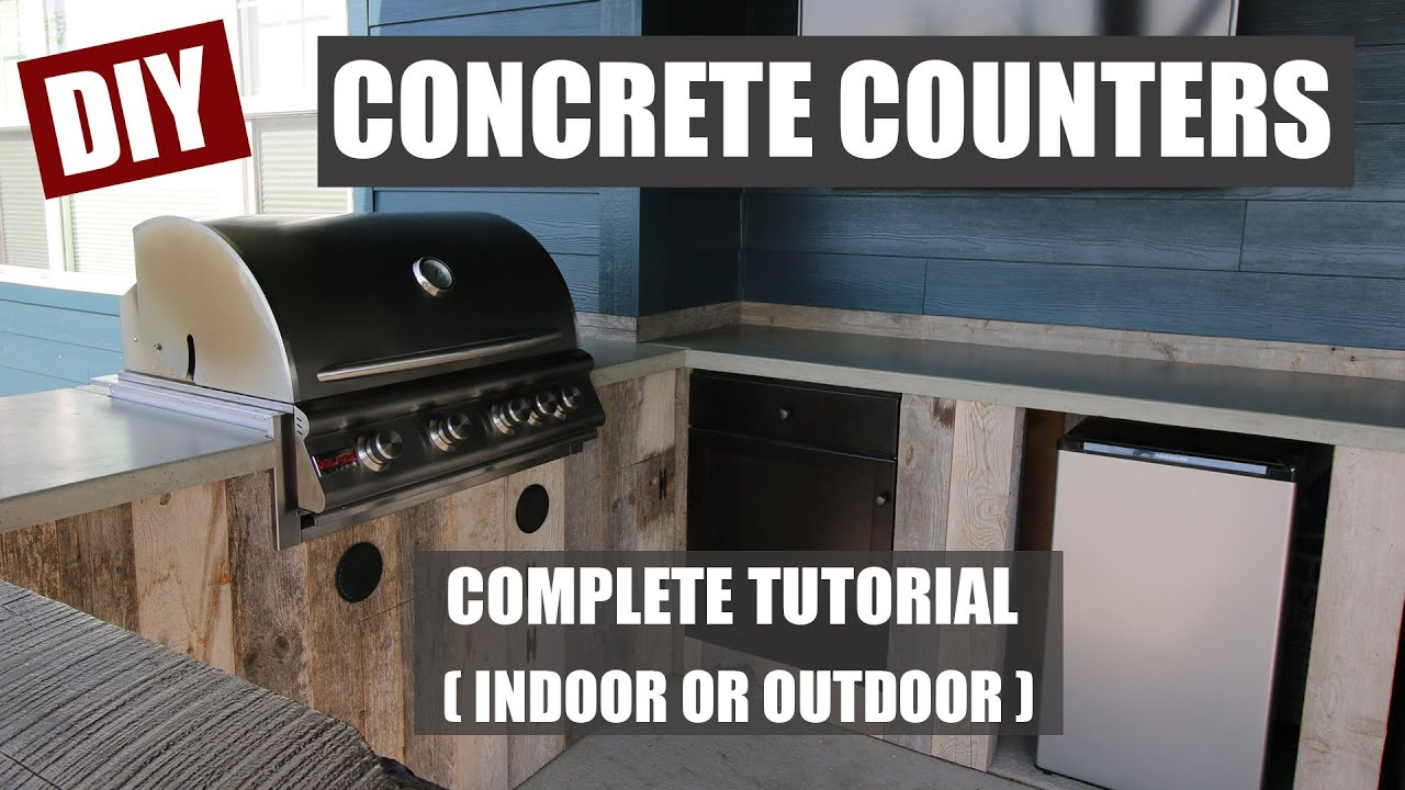 How To Make Diy Concrete Counters For An Outdoor Kitchen Diy Projects With Pete