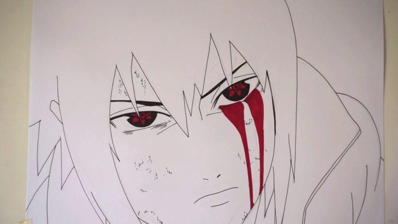 Drawing Sasuke With His Mangekyou Sharingan