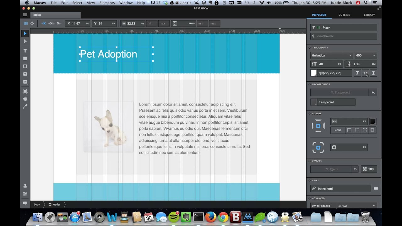 Macaw - Web Design Tool Introduction - YouTube