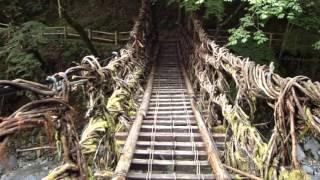 奥祖谷二重かずら橋の女橋を渡ってみた