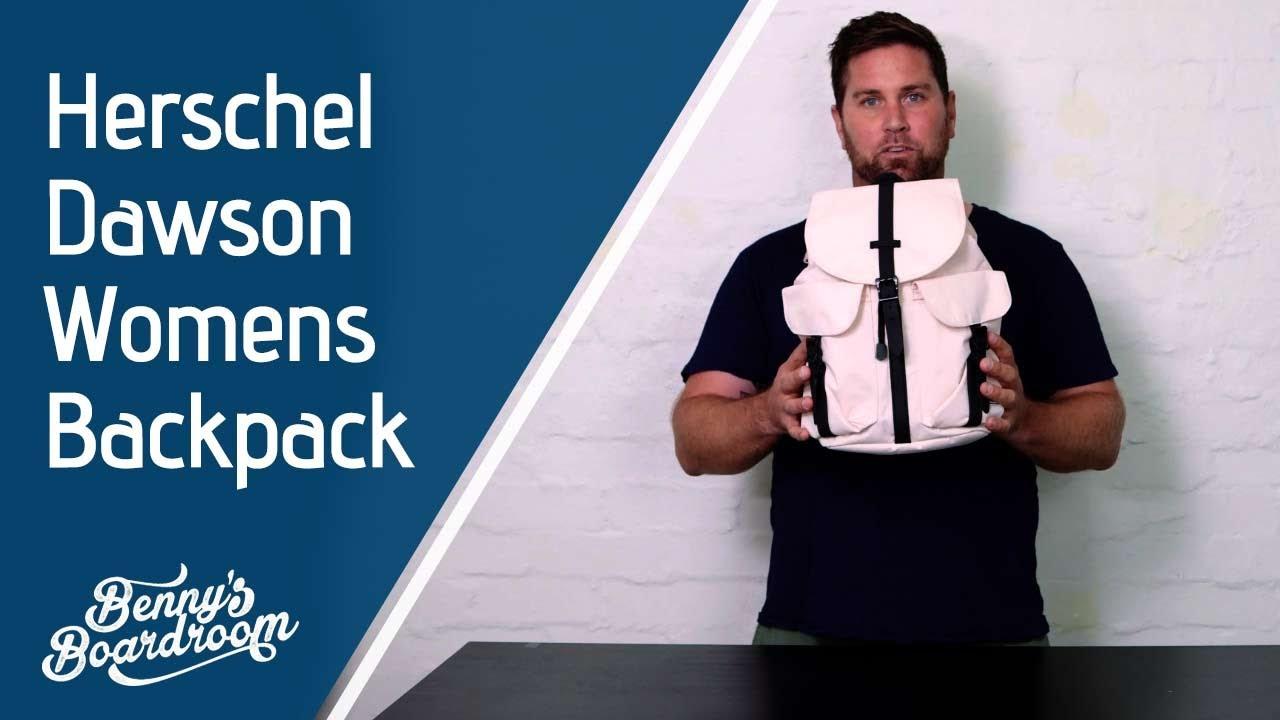 bd6cc9d5949 Herschel Dawson Womens Backpack Walkthrough - Benny s Boardroom ...