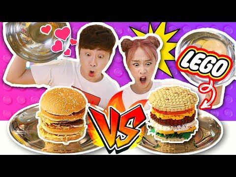 [Lego Food VS Real Food] Random Food Picking Challenge with Kangi  -Jini