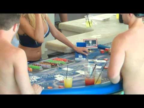 Caesars Palace Blackjack in the pool