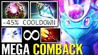 WTF IMBA!  45% CD Endless Phase Shift MEGA CREEPS Comeback Dagon PUCK Most Annoying Hero Dota 2 Pro
