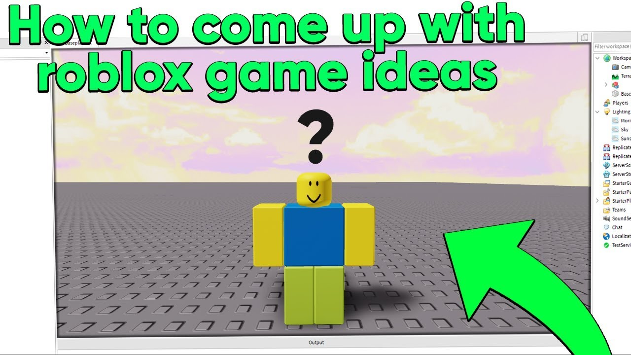 How To Come Up With Roblox Game Ideas Youtube