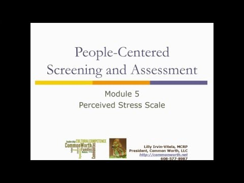 People-Centered Screening and Assessment Module 5 - Perceved Stress Scale