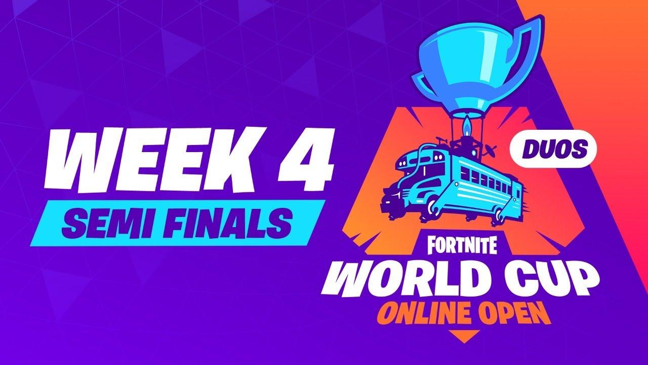 Fortnite World Cup Week 4 Semi-Finals - YouTube