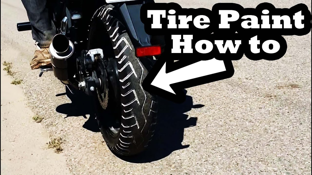 how to motorcycle tire paint tire penz
