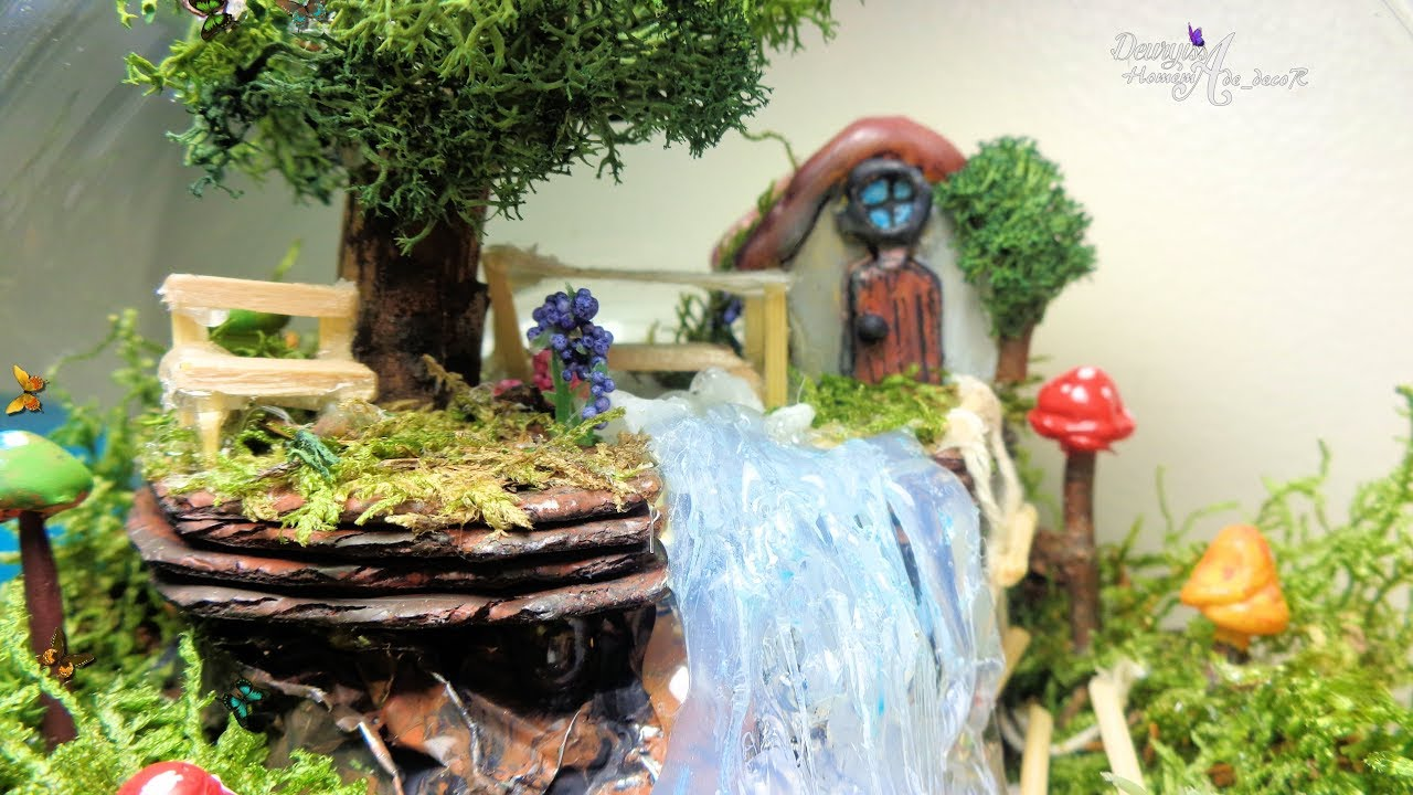 mini jardines jard n dentro de una pecera fairy garden in a fishbowl youtube. Black Bedroom Furniture Sets. Home Design Ideas