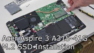 Установка з M. 2 SSD на Асер Aspire 3 A315-41 прихований слот