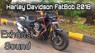 Harley Davidson Fatbob 2018 EXHAUST SOUND
