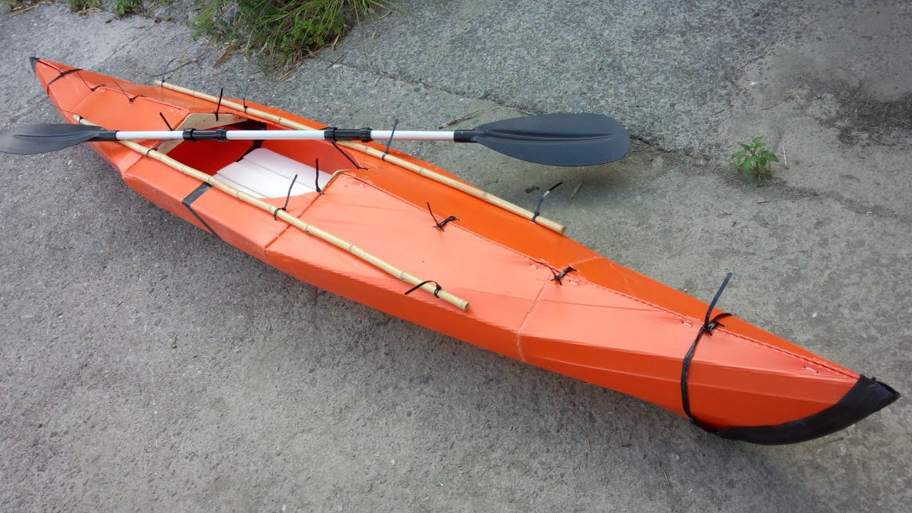 origami kayak modify youtube