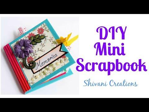 DIY Mini Scrapbook/ How to make Birthday Scrapbook using One Sheet